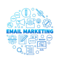 Email marketing round blue concept vector