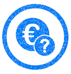 Euro status rounded grainy icon vector