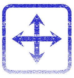 Expand arrows framed textured icon vector