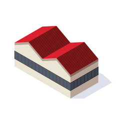 factory isometric architecture manufactures vector image