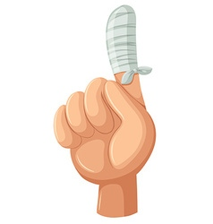 Finger wrapped with cloth vector image