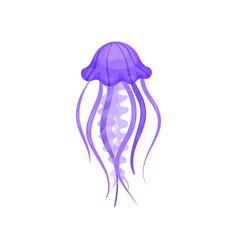 flat verctor icon of bright purple jellyfish vector image