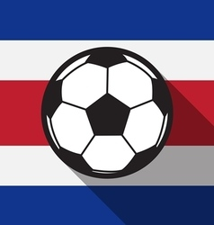 Football icon with Costa Rica flag vector