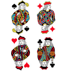 four jacks french inspiration without cards vector image