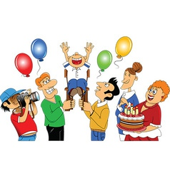 Friends and family celebration vector image