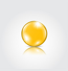 Gold drop of oil essence vector