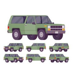 green offroad set vector image