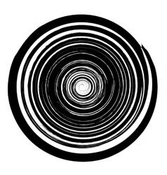 Grunge Round Pattern Isolated on White Background vector image