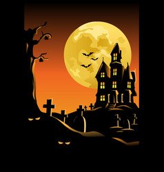 Halloween background for poster vector