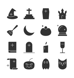 Halloween party fill icon vector