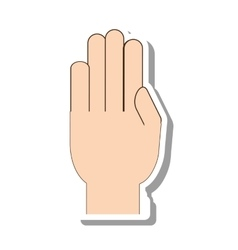 hand human gesture isolated icon vector image
