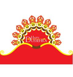 Happy dussehra festival poster or banner design vector