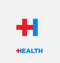 health logo pharmacy emblem pharmacy drugstore apo vector image