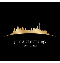 Johannesburg South Africa city skyline silhouette vector image