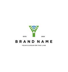 Letter y wireless logo design vector