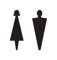 male and female icons restroom pictogram graphic vector image
