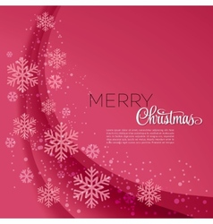 Merry Christmas greeting card with snowflakes vector image