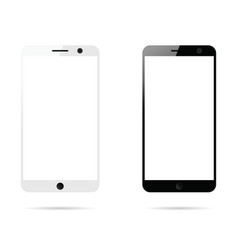 mobile phone white and black vector image