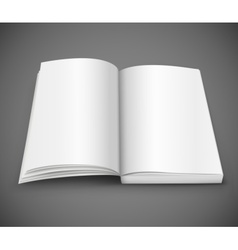 Open spread book with blank white pages vector