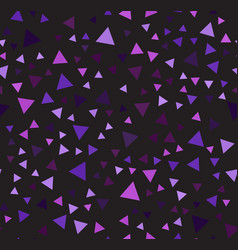 Purple triangle chaotic pattern seamless vector