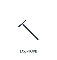 Rake icon simple gardening element symbol design vector