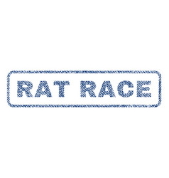 Rat race textile stamp vector