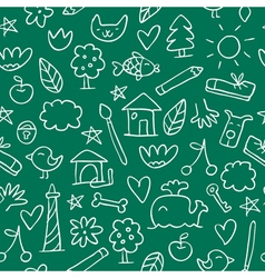 Seamless hand drawn pattern in sketchy style on vector image vector image