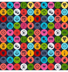 Seamless pattern with game icons in flat design vector image