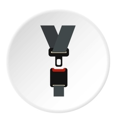 Seat belt icon flat style vector