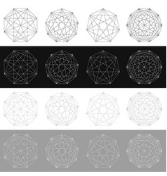 Segmented element with grid geometrical shape vector