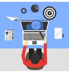 seo concept design vector image
