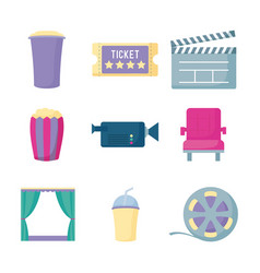 set icons of cinema film vector image