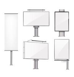 set of advertising metallic blank vector image