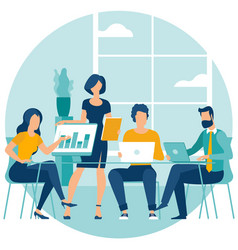 shared working environment vector image