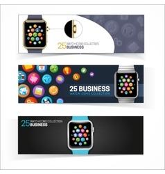 Smart watch banners vector