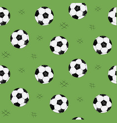 soccer ball seamless pattern for background web vector image