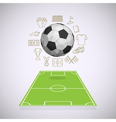 Soccer yard with thin line icons vector image