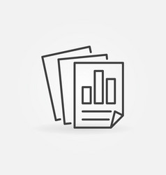 statistics report icon in thin line style vector image