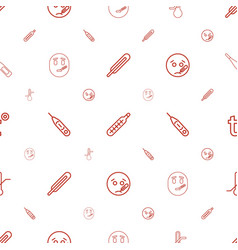 thermometer icons pattern seamless white vector image