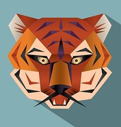 Tiger face icon vector image