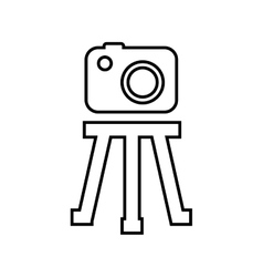 tripod camera photographic icolated icon design vector image