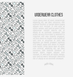 Underwear clothes concept with thin line icons vector