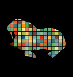 walrus arctic color silhouette animal vector image