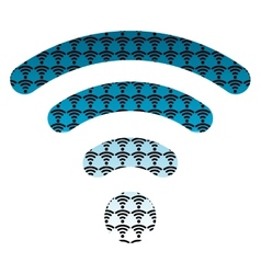 wifi wireless hotspot internet signal symbol icon vector image