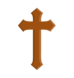 wooden cross icon vector image