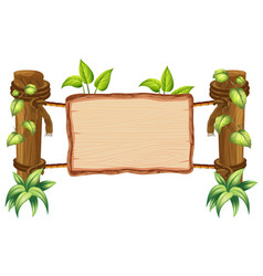 wooden nature blank board vector image