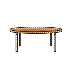 Wooden table furniture decoration vector