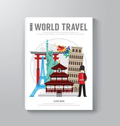 World Travel Business Book Template Design vector