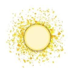 Yellow Confetti Round Banner vector