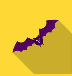 bat icon in flate style isolated on white vector image vector image